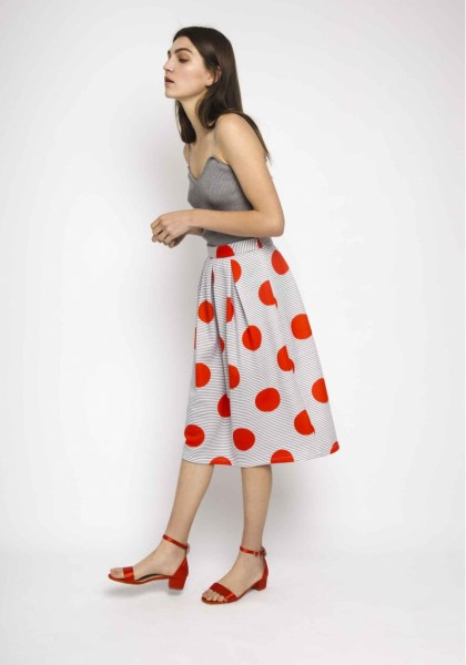 l-appartamento-rimini-compania-fantastica-bolli-righe-pois-red-stripes-gonna-skirt-1