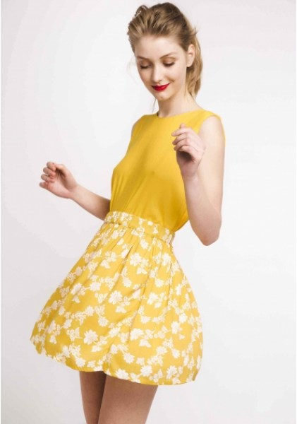 l-appartamento-rimini-compania-fantastica-skirt-gonna-falda-flowers-fiori-fantasia-giallo-yellow