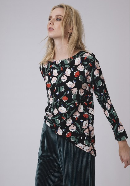l-appartamento-rimini-compania-fantastica-top-camicia-fiori-flowers-shirt-black