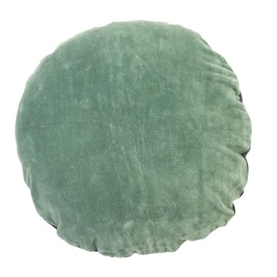 l-appartamento-rimini-cuscino-cushion-velvet-velluto-verde-green-bicolor-tondo-bloomingville-design