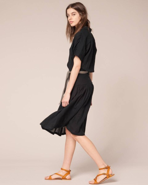 l-appartamento-rimini-dress-sessun-nero-abito-cintura-ricamata-belt-manica-silk-seta-adala-black