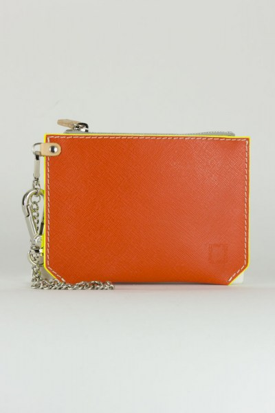 l-appartamento-rimini-estate-bustina-leather-crackle-silver-orange-pocket-wallet-chain-portafoglio