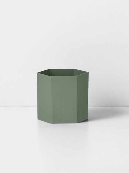 l-appartamento-rimini-ferm-living-hexagon-pot-dusty-green-large-vase-plant-holder-danish-design
