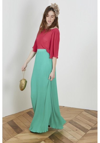 l-appartamento-rimini-gonna-lunga-long-skirt-plisse-verde-green-wild-pony-falda-larga-plisada-verde