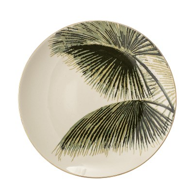 l-appartamento-rimini-shop-piatto-green-spring-aruba-plate-green-palm-stoneware-gold-oro-bloomingville-design