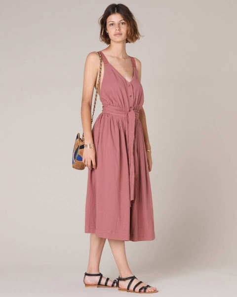 l-appartamento-rimini-shop-sessun-dress-abito-rosa-pink-nude-cotton-embroidery-aiko-canyon-rose
