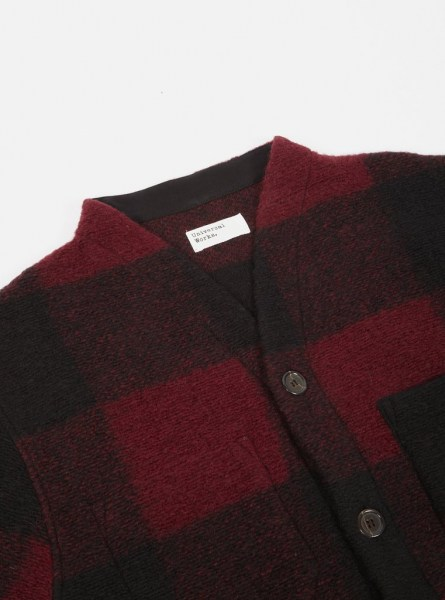l-appartamento-rimini-universal-works-cardigan-wool-fleece-jacket-giacca-check-red-1